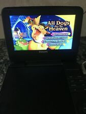 PHILIPS PET741W/17~ 7 INCH PORTABLE DVD PLAYER ~  AC charger  DVD Movie ~