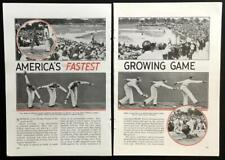 1936 Amateur Softball Association pictorial Championship & Hindenberg Luxuries