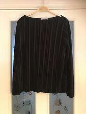 Ladies Clothes Size 14 M&S Per Una Black Velvet Top (526)