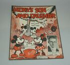 ORIGINAL 1935 MICKEY'S SON AND DAUGHTER WALT DISNEY MICKEY MOUSE SHEET MUSIC