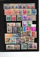 Espagne : 260 timbres neufs ** différents avec bonnes séries