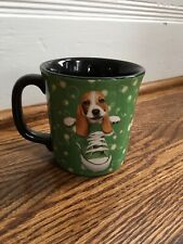 Keith Kimberlin Beagle Hound Dog in a Shoe Green Mug