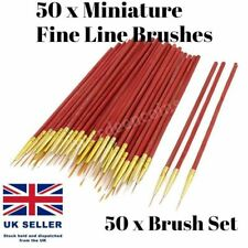 50 x Watercolour Drawing Paint Brushes Fine Line Detail Arts + Crafts Hobby
