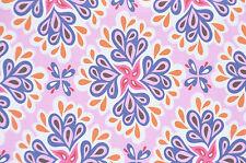 Jersey flieder Blütenornamente 50 cm x 150 cm  Hilco Hamburger Liebe
