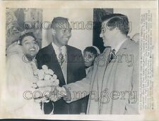 1956 Olympic Athlete Charles Jenkins Sr Wedding Hal Connolly Press Photo