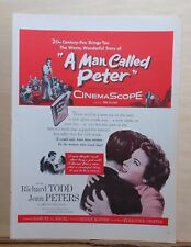 """1955 magazine ad for movie """"A Man Called Peter"""" - Jean Peters, Richard Todd"""