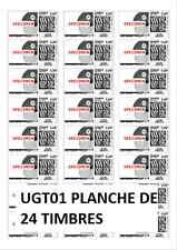 120 Etiquettes autocollantes pour timbre + Mon timbre en ligne - 63,5 x 33,9 mm