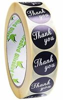 Round Thank You Stickers Heart Labels Craft Wedding Favours Party Seal 25mm