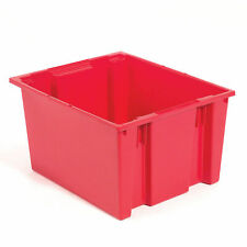 Stack And Nest Shipping Container No Lid 23 12x19 12x10 Red Lot Of 3