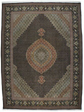 Tabriz rug / carpet wool hand knotted brown and beige (257 X 342 cm)