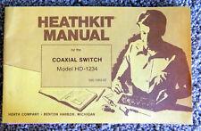 Original Heathkit Hd-1234 Coaxial Switch Assembly & Operation Manual