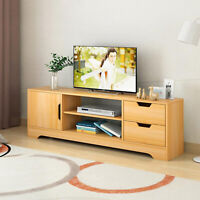 US ~TV Unit Stand Cabinet one Doors with 2 Drawers Table Living Room Furniture