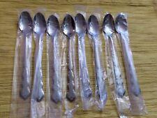 "Oneida Valerie Distinction Stainless  HH flatware 8 iced teaspoons 7 1/2"""