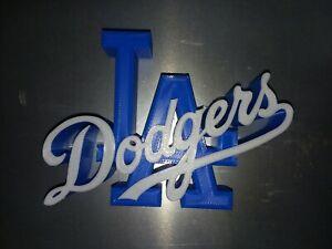 "Bud Sale!LA DODGERS LOGO DECAL SIGN MLB BASEBALL MAN CAVE-3D printed 5""×7""×1.25"""