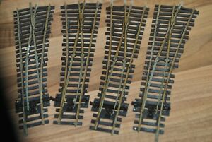 00 gauge 4 Sets of PECO Nickel Silver Track Points in Nice Condition