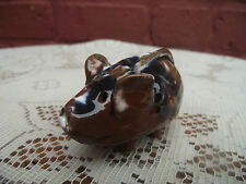 SMALL MARBLED SLIP GLAZE STUDIO POTTER MOUSE
