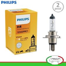 2 LAMPADINE PHILIPS H4 VISION +30% DI LUCE 12V 60/55W - 2 PEZZI 12342PRC1
