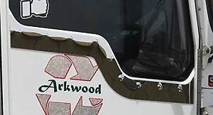 Polished Stainless Steel Kenworth Door Trim (Dimple)