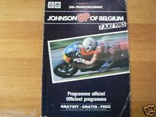 B 1985 JOHNSON GRAND PRIX BELGIUM SPA FRANCORCHAMPS 7-7-1985 PROGRAMMA