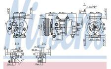 NISSENS Compresor aire acondicionado Para PEUGEOT 307 CITROEN C4 89201