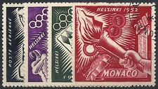 MONACO Poste Aérienne n° 51/54 Jeux Olympiques Helsinki, oblitérés et TB, 63 € !