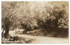 A Bit of the Hot Springs Road, San Diego County, CA 1944 RPPC