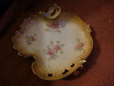 LIMOGES BLUSH IVORY STYLE D & C GILT DECORATED DISH - early 20th century