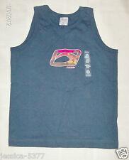 NWT Old Navy Boys 5 Sleeveless Shirt NAVY BLUE Turquoise Cotton Blend    681214