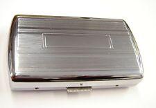 Chrome Cigarette Case Holds 10 King Size (6311)