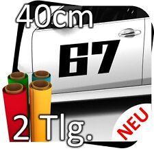 2x 40cm Nummer frei wählbar Startnummer Rallye Autoaufkleber Startnummern No.22