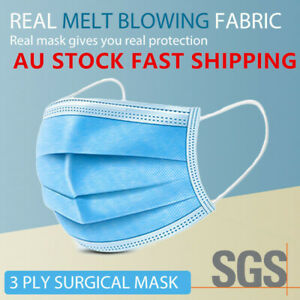 Face Mask Daily Protective Face Mask Anti Bacterial Filter 3 Layer Au stock