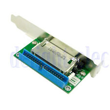 40Pin ATA IDE to Compact Flash CF Adapter Converter w/ PCI Bracket Back Panel DE
