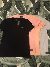 2018 Abercrombie & Fitch Men's T-shirt Lot Brand New With Tags SM/M