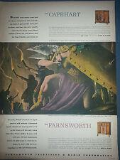 1946 Capehart Farnsworth Radio Dynasty and Empire  Original Ad