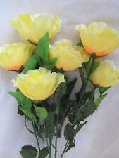 6 Rosen 55cm Blüten 8cm Künstliche Kunst Blume Kunst Pflanzen Seidenblume Flower