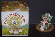 NMIB WEE FOREST FOLK CHRISTMAS CHECKING IT TWICE SANTA MOUSE M-473c