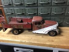 1949 VINTAGE PRESS STEEL BUDDY L FIRE and CHEMICAL TRUCK