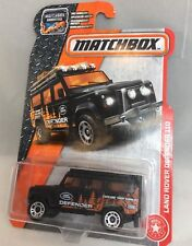 2017 Matchbox Land Rover Defender 110 in Black with Land Rover livery 84/125