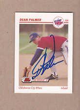 Dean Palmer signed 1991 Line Drive Minor League card# 314-Texas Rangers