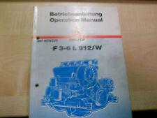 Betriebsanleitung KHD Deutz Diesel Motor F3-6L912/W