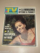 TV SORRISI CANZONI=1966/28=CLAUDINE AUGER JAMES BOND GIRL COVER MAGAZINE=BIGAZZI