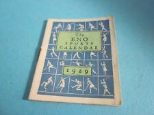 Vintage Miniature 1929 The Eno Sports Calendar. Good Condition