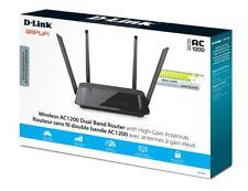 D-Link AC 1200 Wireless Wi-Fi DIR-822 Dual Band Router w/ 4 High Gain Antennas