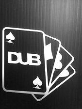 DUB Cards Sticker Decal JDM Vinyl funny Drift Racing Lowered Fatlace Euro Dub