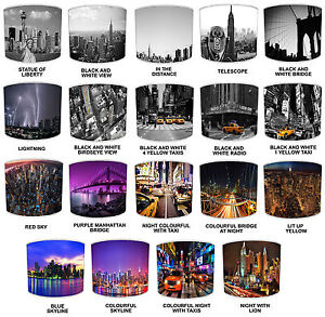 New York Lampshades Ideal To Match The Big Apple Blankets & Cushions