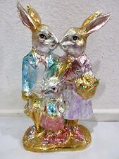 Easter Faux Foil Chocolate Gold Bunny Rabbit Family Decoration Decor 11""