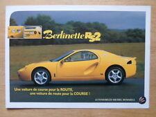 HOMMELL BERLINETTE RS2 orig 2002 French Mkt Sales Leaflet Brochure