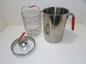 Kuhn Rikon 4th Burner 12 Cup Tall Narrow Pot with Straining Pour Spout & Basket