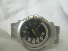 Fastrack Titan Silver Toned Metal Water Resistant Wristwatch WORKING!