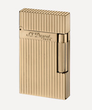 NEW S.T. Dupont Ligne 2 Lighter Lined Gold Luxury 016827 ST